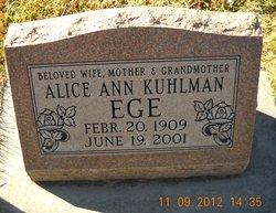 Alice Ann <i>Kuhlman</i> Ege