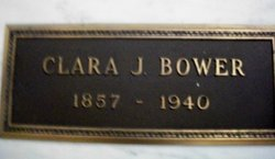 Clara J <i>Crandall</i> Bower