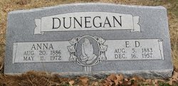 Anna May <i>Freeman</i> Dunegan