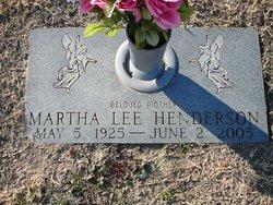 Martha <i>Lee</i> Henderson