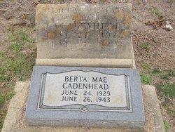 Berta Mae <i>Brown</i> Cadenhead