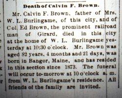 Calvin F. Brown