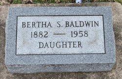 Bertha S Baldwin