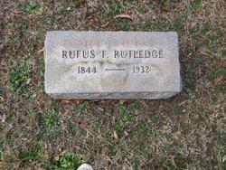 Rufus F Rutledge