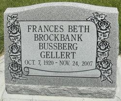 Francis Beth <i>Brockbank</i> Bussberg Gellert