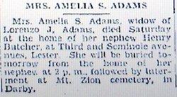 Amelia S. <i>Horn</i> Adams