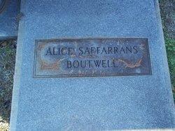 Mary Alice <i>Saffarrans</i> Boutwell