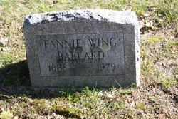 Fannie Louise <i>Wing</i> Ballard