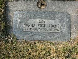 Baby Norma Rose Adams