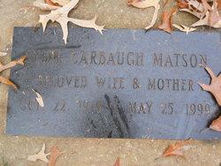Sybil Holland <i>Carbaugh</i> Matson