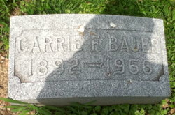 Carrie F. <i>Lohr</i> Bauer