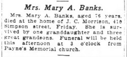 Mary Ann <i>Hammond-Thurman</i> Banks