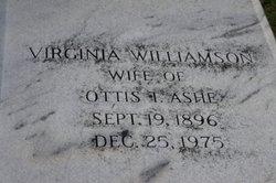 Virginia <i>Williamson</i> Ashe