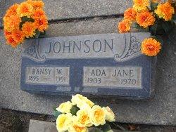 Ada Jane <i>Sloan</i> Johnson