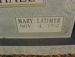 Mary <i>Latimer</i> Marshall