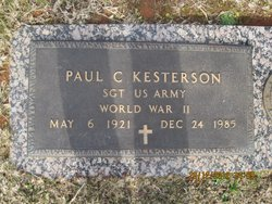 Rev Paul Carter Kesterson