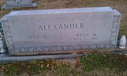 Wiley M Alexander