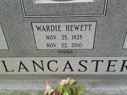 Wardie Mae <i>Hewett</i> Lancaster
