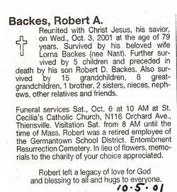 Robert A. Backes