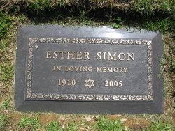 Esther <i>Handler</i> Simon