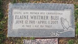 Elaine <i>Whitmer</i> Blei