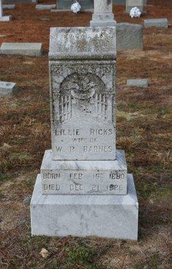 Lillie <i>Ricks</i> Barnes