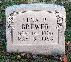 Lena P <i>Clements</i> Brewer