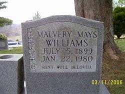Malvery <i>Burch</i> Mays Williams