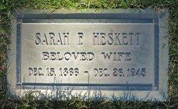 Sarah Frances <i>Sufficool</i> Heskett