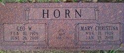 Mary Christina <i>Morris</i> Horn