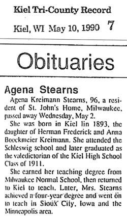 Agena <i>Kreimann</i> Stearns