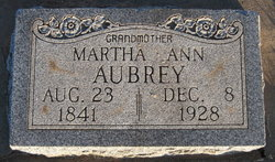 Martha Ann Aubrey