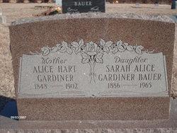 Sarah Alice <i>Gardiner</i> Bauer