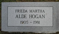Frieda Martha <i>Alde</i> Hogan