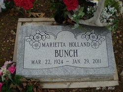 Marietta <i>Holland</i> Bunch