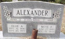 Mose F Alexander