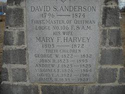 Mary F <i>Harvey</i> Anderson