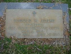 Harold H Adams