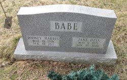 Jane <i>Hess</i> Babe