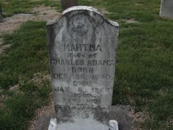 Martha <i>Shumate</i> Adams