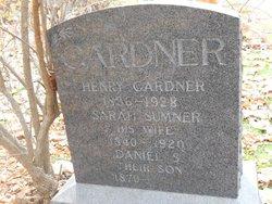 Sarah <i>Sumner</i> Gardner