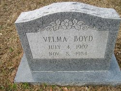 Velma <i>Williams</i> Boyd