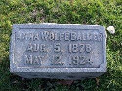 Anna <i>Wolfe</i> Balmer