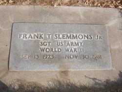 Frank T Slemmons, Jr