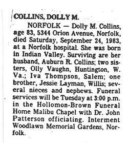 Dollie Mae <i>Layman</i> Collins