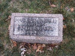 Mary <i>Watson</i> Bailey