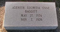 Aseneth Lucretia <i>Cone</i> Baggett
