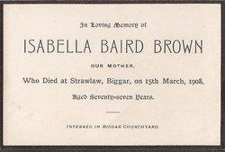 Isabella <i>Baird</i> Brown
