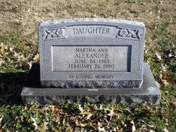 Martha Ann Alexander