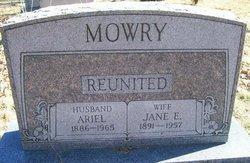Jennie Elizabeth <i>Hadfield</i> Mowry